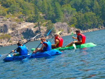 group in kayaks