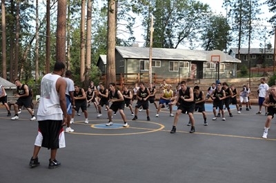 basketball on blacktop